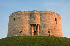 Clifford's Tower, York. In the sunset royalty free stock images