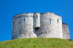 Clifford's Tower in York, a city in England Royalty Free Stock Photo
