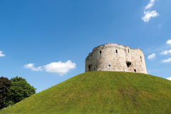 Clifford's Tower in York, England Royalty Free Stock Photos