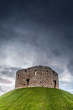 Clifford's Tower, York, England. Part of York Castle, originally built by William the Conqueror to subdue the rebels from the north Royalty Free Stock Photography