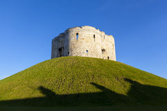 Clifford's Tower in York, England, UK Royalty Free Stock Images