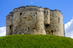 Clifford's Tower, in York, England Royalty Free Stock Images