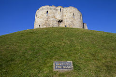 Clifford's Tower in York Royalty Free Stock Images