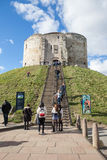 Clifford`s Tower, York. Stock Photo