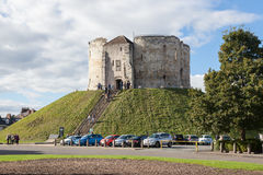 Clifford`s Tower, York. Royalty Free Stock Image
