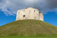 Clifford`s Tower, York. Royalty Free Stock Images
