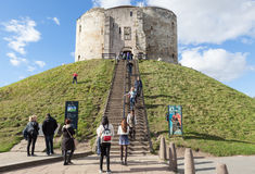 Clifford`s Tower, York. Stock Images