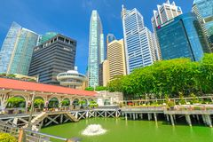 Clifford Square Singapore Royalty Free Stock Photo