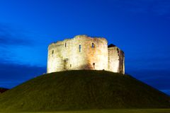 Clifford Tower, York, England Royalty Free Stock Photos