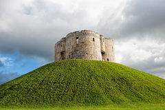 Cliffords Tower. The tower set on top of a  tall mound in the heart of York. Cliffords tower is almost all that remains of York Castle, which was originally Stock Images