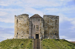 Cliffords Tower York. Cliffords tower in york which sits on top of a hill looking out over the city Stock Images