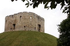 Cliffords Tower in York. English heritage Stock Image