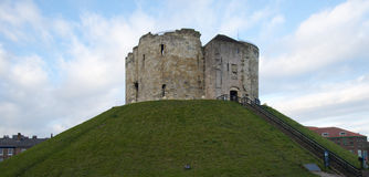 Cliffords Tower in York. By the York Castle Museum Stock Images