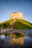 Cliffords Tower York. Clifford`s Tower, a historical castle built in 13th century in York, England, UK Stock Photography