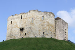 Cliffords Tower in York England. Cliffords Tower in the centre of York City in England Stock Image