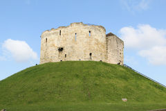 Cliffords Tower in York England. Cliffords Tower in the heart of York in England Stock Photography