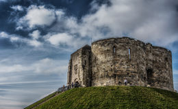 Cliffords Tower in York in England the UK Royalty Free Stock Image