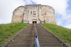 Cliffords Tower in York, England, UK Royalty Free Stock Images