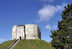 Cliffords Tower, York. Postcard view of Cliffords Tower, York, North Yorkshire, England, UK Royalty Free Stock Images