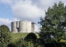 Cliffords Tower, York. Postcard view of Cliffords Tower, York, North Yorkshire, England, UK Royalty Free Stock Photography
