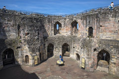 Cliffords Tower in York. YORK, UK - JULY 18TH 2017: The view inside the Cliffords tower - the keep of York Castle, in the historic city of York in England, on Stock Photos