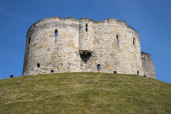Cliffords Tower in York Royalty Free Stock Photography