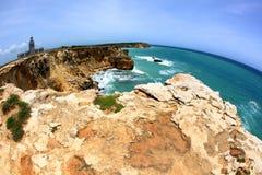 Cliffs. Los Morrillos at Cabo Rojo, Puerto Rico Royalty Free Stock Photo