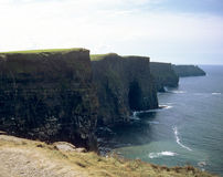 The Cliffs. Scan of slide film on Nikon 9000 ED.  Cliffs of Moher in Ireland Stock Photos