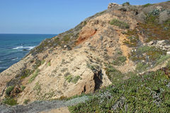 Cliffs. Overlooking the Mediterranean Sea in Apollonia National Park in Herzliya, Israel Royalty Free Stock Images