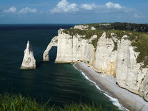 Cliffs. The cliffs at Etretat seen from above Royalty Free Stock Photography