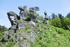 Cliffs. In Franconian Switzerland (Fraenkische Schweiz, Germany Stock Photos