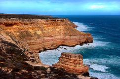 Cliffs. Coastal rock-cliffs in west-Australia stock photo