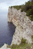 Cliffs. A pine tree at the cliffs of Dugi Otok (Long island) in Croatia Royalty Free Stock Images