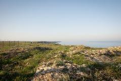 Cliffs above Black sea, Bulgarian coast Stock Photo