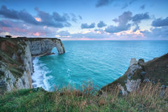 Cliffs at Alabaster coast in Atlantic ocean Stock Image