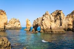 Cliffs of Algarve Stock Photos