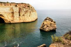 Cliffs on the Algarve coast Stock Photo