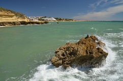 Cliffs,The Algarve, Portugal Royalty Free Stock Photos