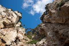 Cliffs All Around Royalty Free Stock Image