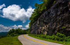 Cliffs along the Blue Ridge Parkway in North Carolina. Stock Photos