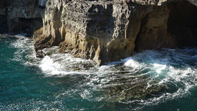 Cliffs Along Coast And Waves Stock Photo