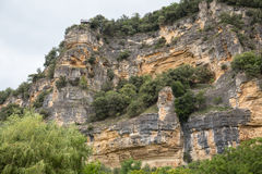 Cliffs along the Dordogne Stock Photography