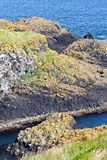 Cliffs along Irish Coast, Northern Ireland Stock Photo