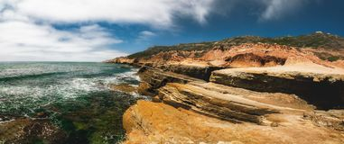 Free Cliffs And Ocean.  Panoramic View Sunset Cliffs Natural Park At Point Loma In San Diego, California Stock Images - 161651124