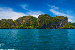 Cliffs in Andaman sea Stock Photos