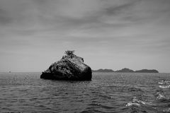 Cliffs in Andaman sea Royalty Free Stock Image