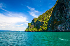 Cliffs in Andaman sea Royalty Free Stock Images