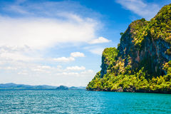 Cliffs in Andaman sea Royalty Free Stock Photography
