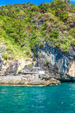 Cliffs in Andaman sea Stock Photography