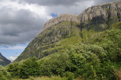 Cliffs of Aonach Dubh Stock Image